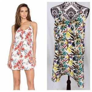 Bishop + Young Inverted Pleat Floral Palm Dress